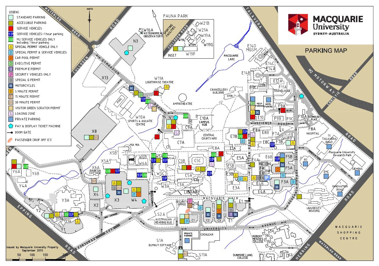 Campus Parking Map
